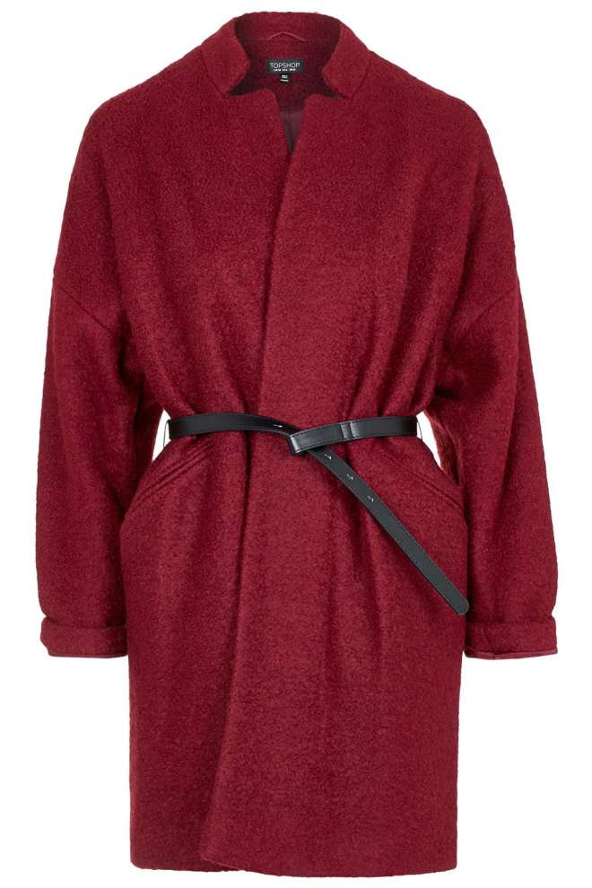 I love the belted detailing on this Topshop bouclé coat. Berry is one of my favourite colours for this time of year as it seems to go with almost everything. Wool blend=cosy!