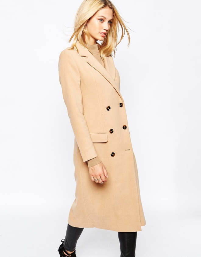 I can't believe this coat is Missguided! The notch lapel collar combined with double breasted detailing and classic tan colour make this coat look way more expensive than it is. Perfect with a big scarf, bobble hat and chunky boots. (Students get a whopping 25% off Missguided at the moment btw!)