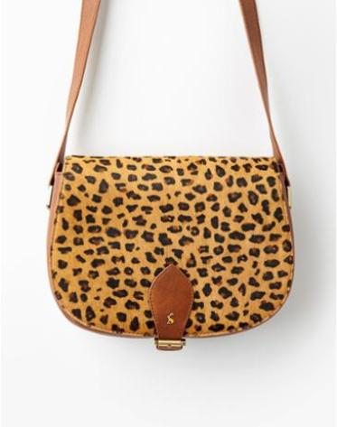 This gorgeous cross body saddle bag is something a bit different from Joules. I love the leopard print design against the soft tan. I'd team this with a Breton stripe, skinnies and Chelsea boots for a casual day time look.