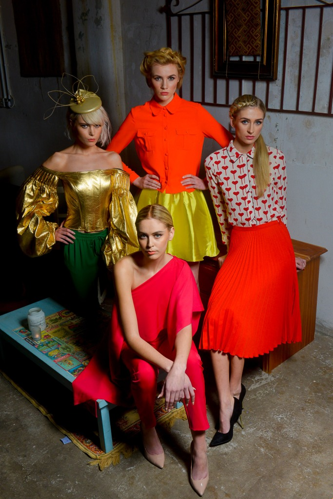 PACEMAKER PRESS INTL: ÒPictured at the launch of West Coast Cooler FASHIONWEEK are models Claire, Phoebe, Carys and Sacha in the latest looks from Grainne Maher:: Vault, Topshop @ Victoria Square and Blush Boutique. The event will take place from 11-13 March across Belfast. For further information on show schedules, tickets, links to participant retailers and designers as well as the seasonÕs hottest trends, log on to www.belfastfashionweek.com.ÓPhoto: Kirth Ferris/Pacemaker Press