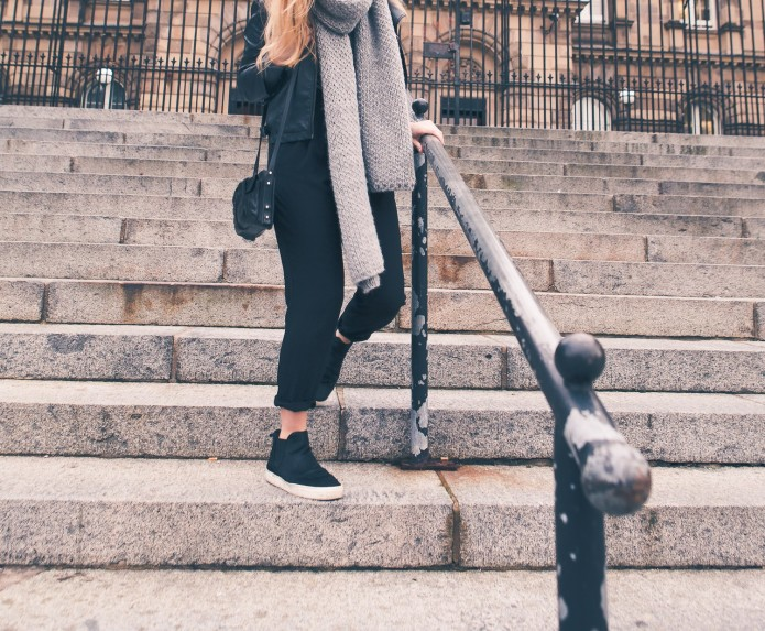 Casual Flatform boots how to wear